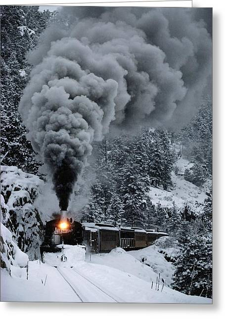 The Durango And Silverton Narrow Gauge Greeting Card by Paul Chesley