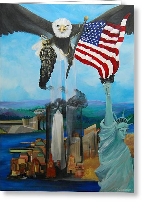 The Eagle Greeting Card by Amy Stewart Hale