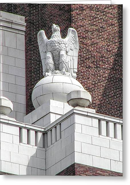 The Eagle On The United States Custom House Philadelphia Pennsyl Greeting Card by Bill Cannon
