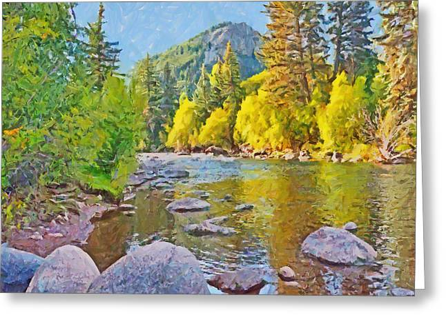 The Eagle River In October Greeting Card