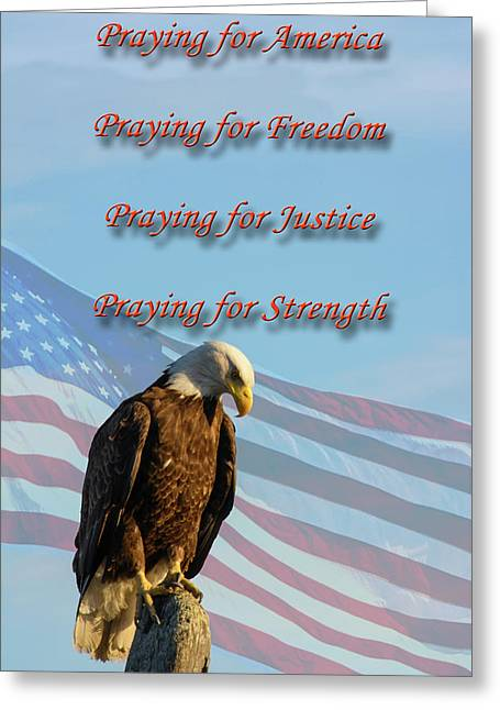 The Eagles Prayer Greeting Card by Tikvah's Hope