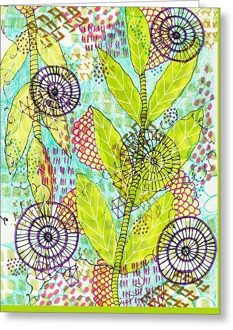 The Earth Dances Greeting Card by Lisa Noneman