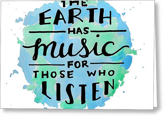 The Earth Has Music Square Greeting Card by Michelle Eshleman