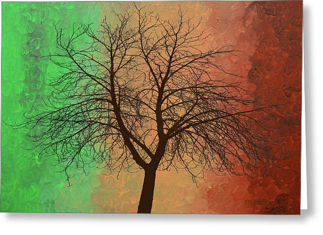 The Earth Tree Greeting Card by Ken Figurski