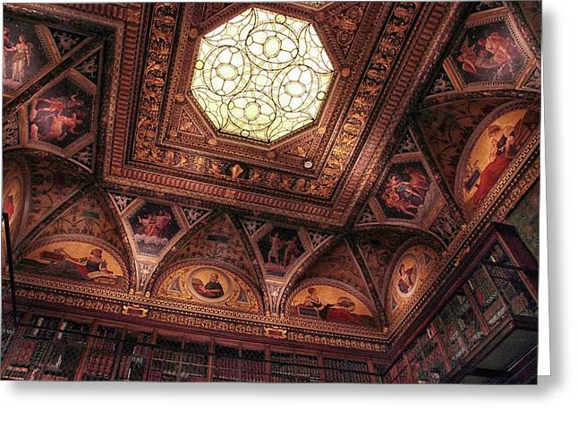 Greeting Card featuring the photograph The East Room Ceiling by Jessica Jenney