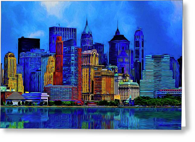 The East Side Greeting Card by Paul Wear