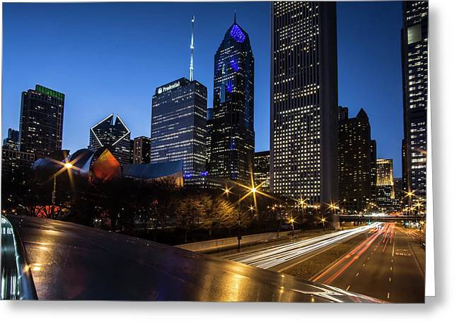 The East Side Skyline Of Chicago  Greeting Card