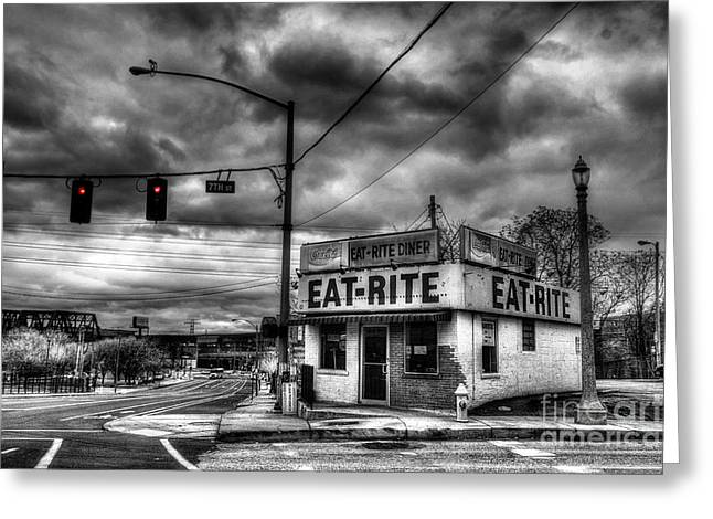The Eat Rite Diner Greeting Card by William Fields