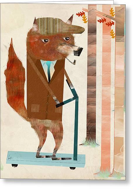 The Eccentric Mr Fox Greeting Card by Bri B