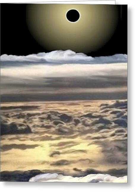 The Eclipse At Calvary Sec I Greeting Card by Ron Chambers
