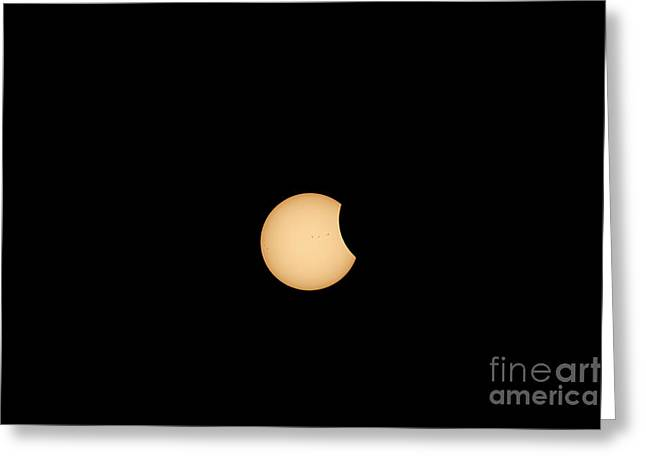 The Eclipse Begins Greeting Card