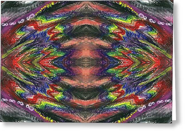 The Ecstasy Of Shamanism #1365 Greeting Card by Rainbow Artist Orlando L aka Kevin Orlando Lau