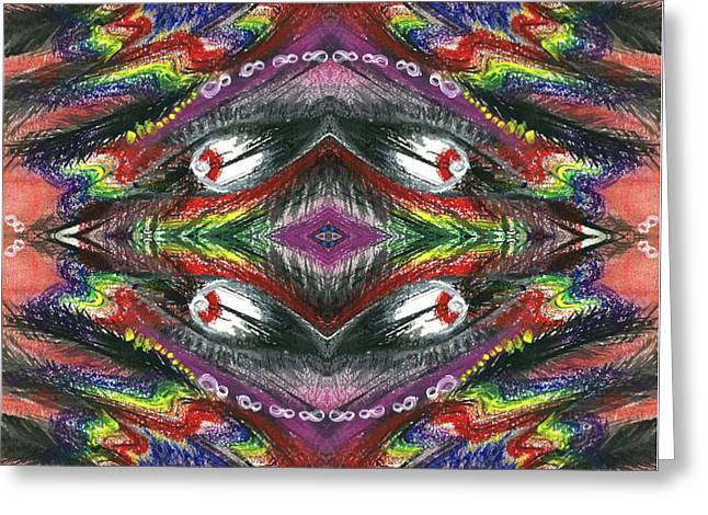 The Ecstasy Of Shamanism #1368 Greeting Card by Rainbow Artist Orlando L aka Kevin Orlando Lau