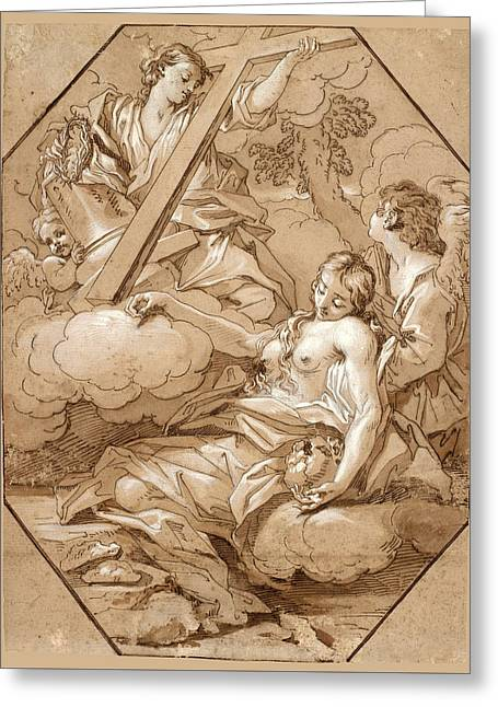 The Ecstasy Of St Mary Magdalene Greeting Card