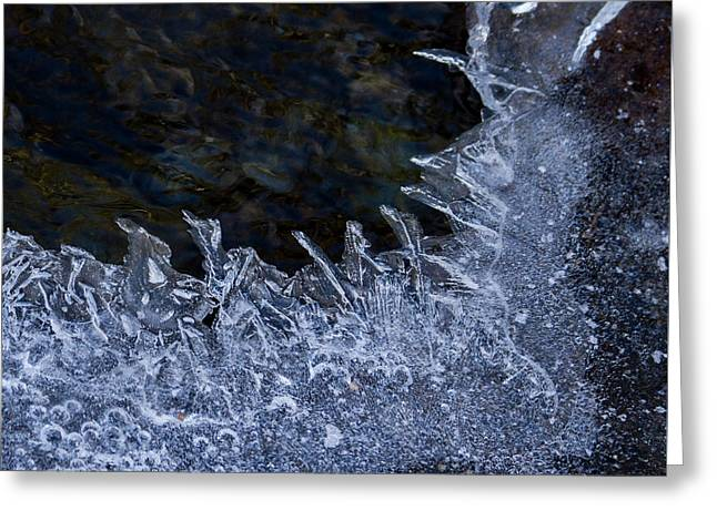 The Edge Of Ice Greeting Card