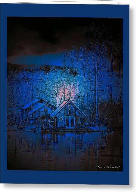 The Edge Of Night Greeting Card by Steve Warnstaff