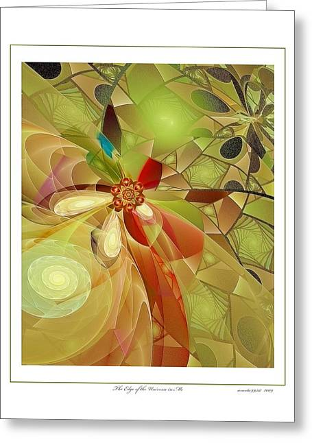 The Edge Of The Universe In Me Greeting Card by Gayle Odsather