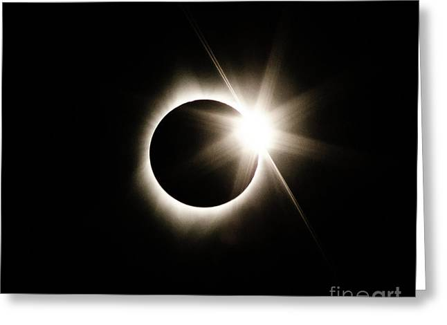 The Edge Of Totality Greeting Card