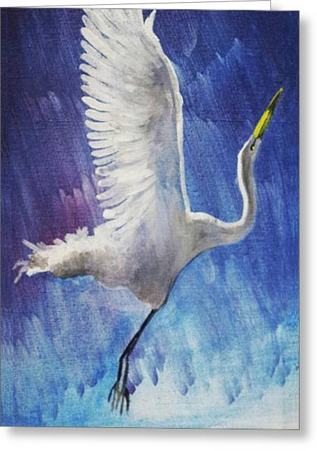 The Egret Greeting Card by Seth Weaver
