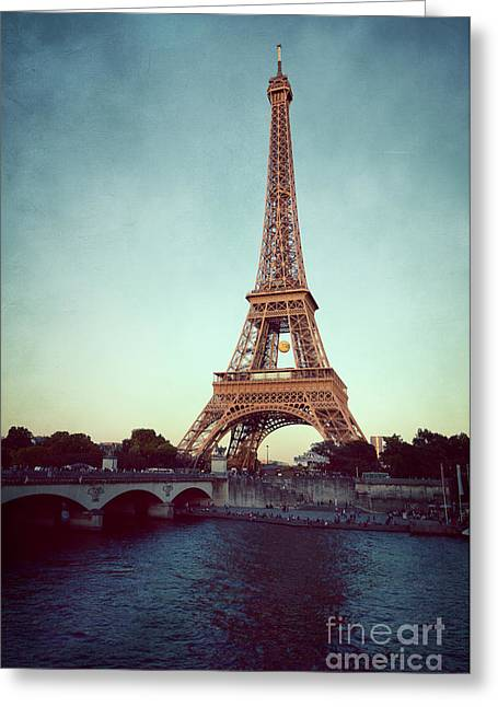 Greeting Card featuring the photograph The Eifeltower by Hannes Cmarits