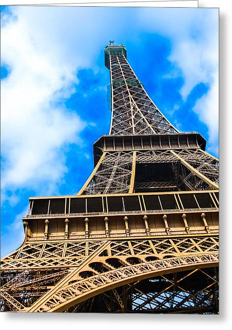 The Eiffel Tower From Below Greeting Card