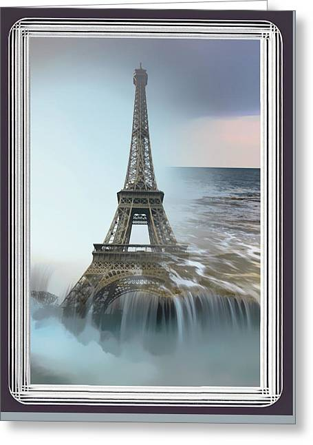 The Eiffel Tower In Montage Greeting Card