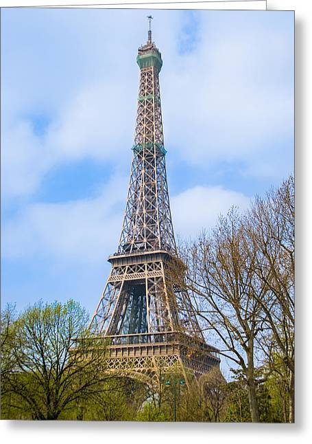 The Eiffel Tower In Paris, France Greeting Card