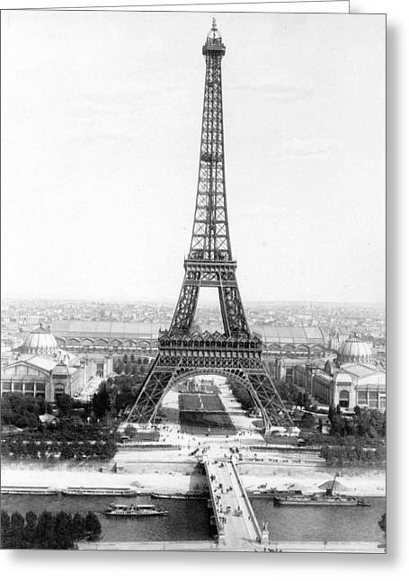 The Eiffel Tower With A View Of Paris Greeting Card