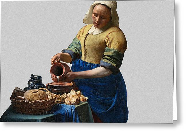 The Elegance Of The Kitchen Maid Greeting Card