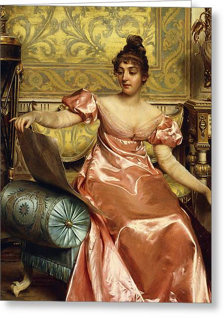 The Elegant Connoisseur Greeting Card by Joseph Frederick Charles Soulacroix