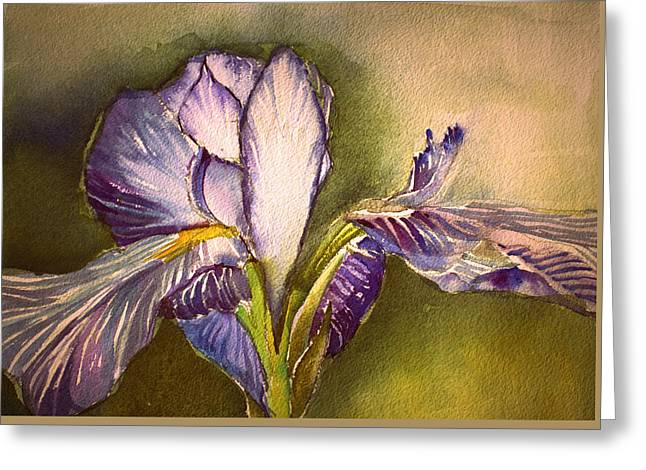The Elegant Iris Greeting Card by Mindy Newman
