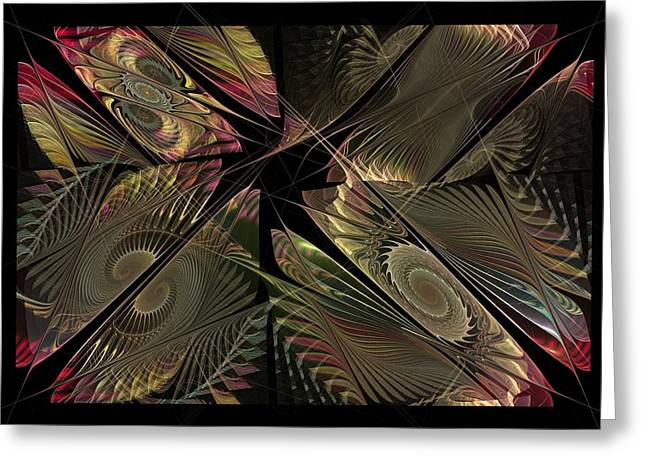 Greeting Card featuring the digital art The Elementals - Calling The Corners by NirvanaBlues