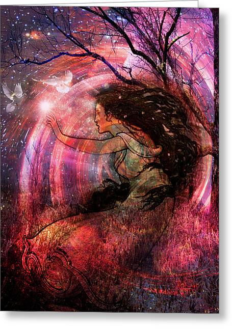 The Elements Wind Greeting Card by Debra and Dave Vanderlaan