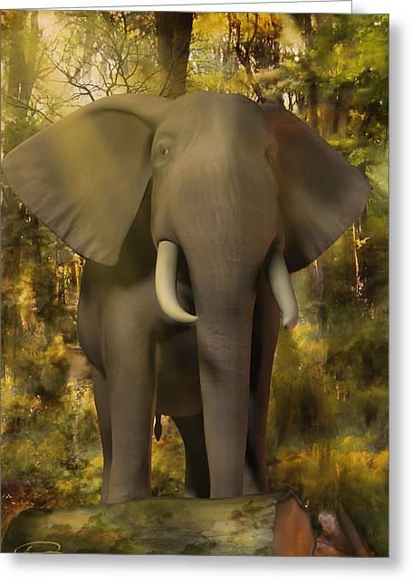 The Elephant Greeting Card by Emma Alvarez