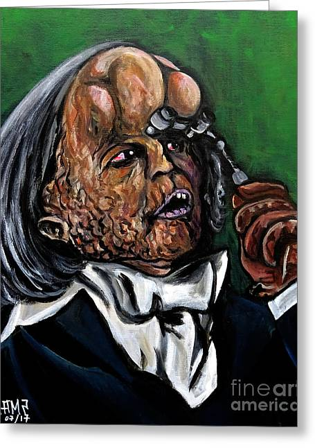 The Elephant Man Greeting Card by Jose Mendez