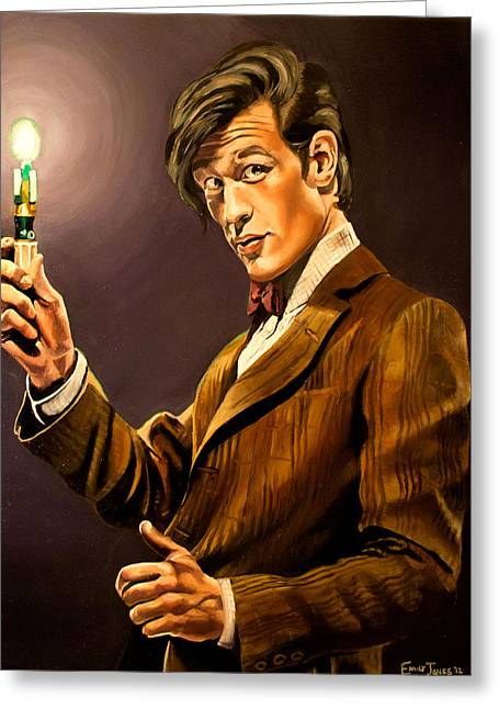 The Eleventh Doctor Greeting Card by Emily Jones