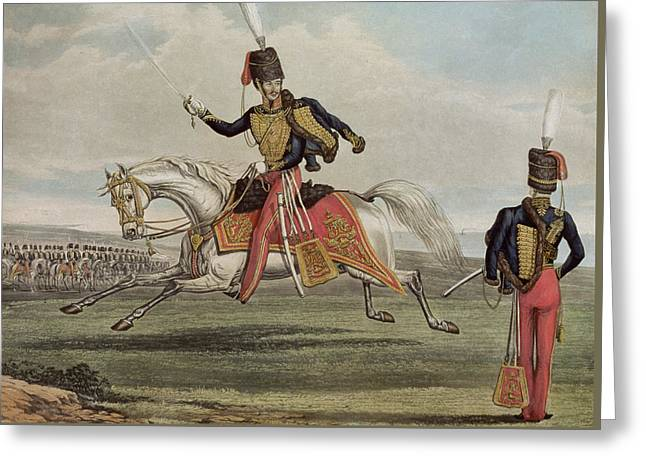 The Eleventh Hussars Greeting Card by J Earp