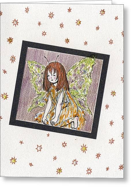 The Elf Greeting Card by Kseniya Nelasova