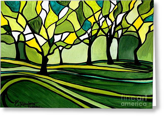 The Emerald Glass Forest Greeting Card