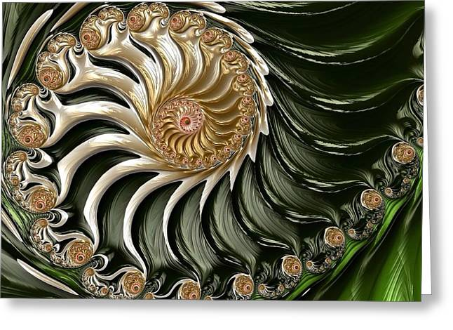 The Emerald Queen's Nautilus Greeting Card