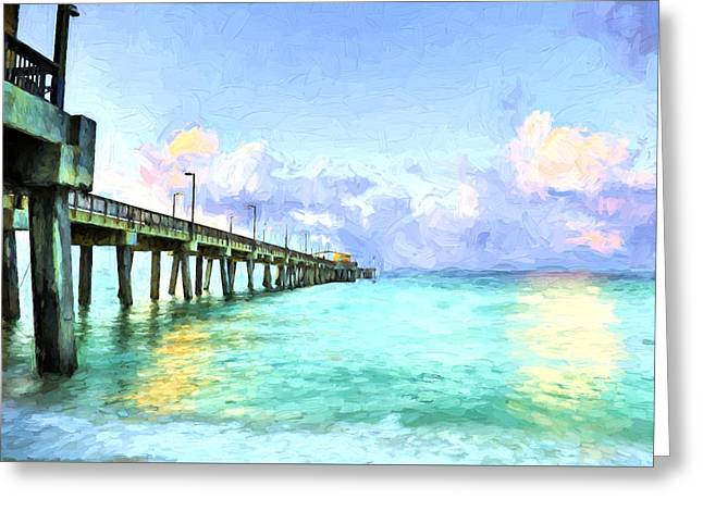 The Emerald Waters Of Gulf Shores Alabama Greeting Card by JC Findley