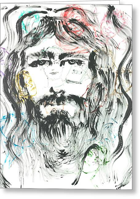 The Emotions Of Jesus Greeting Card by Nadine Rippelmeyer