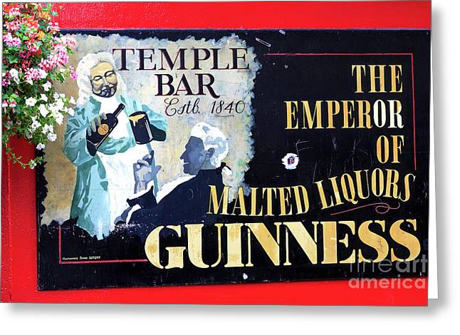 Red Buildings Greeting Cards - The Emperor of Malted Liquors Greeting Card by John Rizzuto