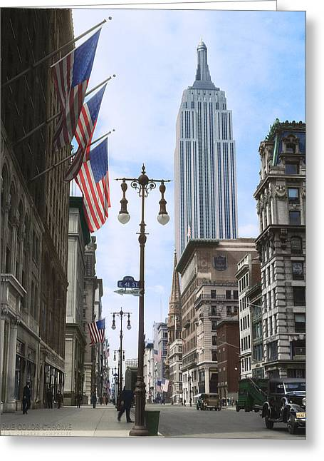 The Empire State, 1933 Greeting Card by Deborah J Humphries