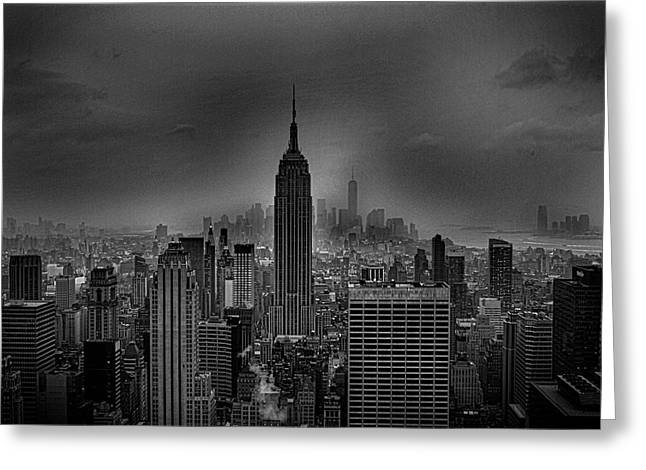The Empire State Building Greeting Card by Martin Newman