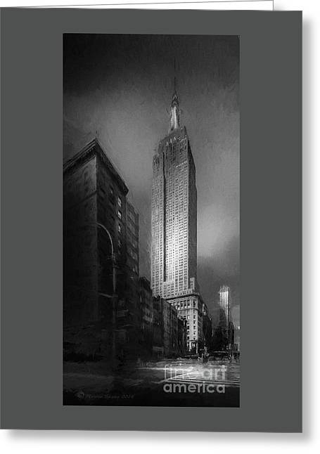 The Empire State Ch Greeting Card by Marvin Spates