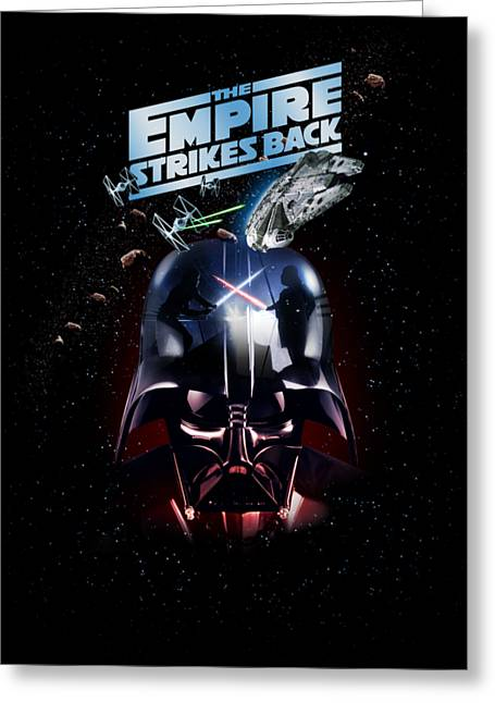 The Empire Strikes Back Greeting Card by Edward Draganski