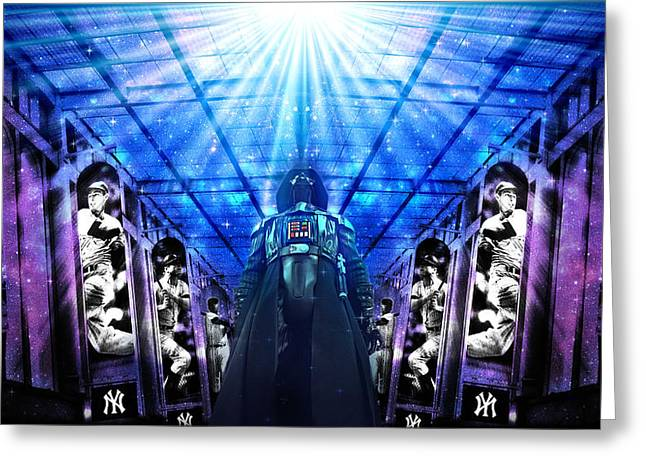 The Empire Strikes Back New York Yankees Edition Iv Greeting Card