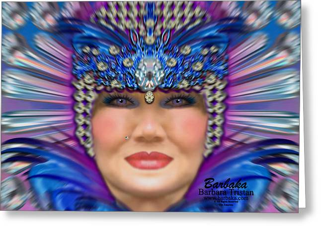 Greeting Card featuring the photograph The Empress by Barbara Tristan