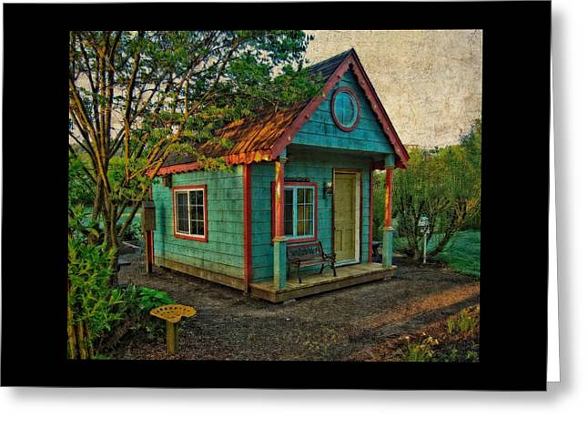 Greeting Card featuring the photograph The Enchanted Garden Shed by Thom Zehrfeld